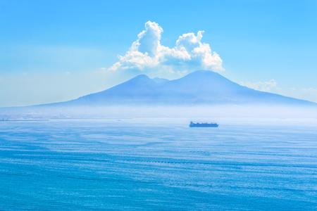 Nice view of the volcano Mount Vesuvius horisontal photo