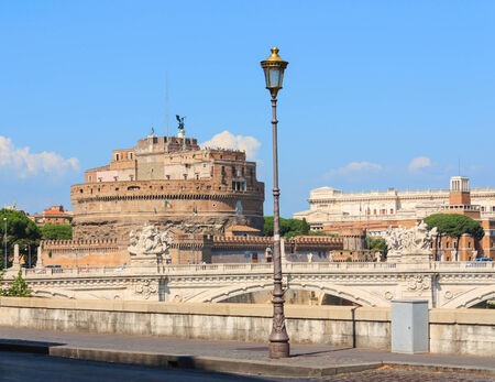 Castle Saint Angelo in Rome Italy horizontal