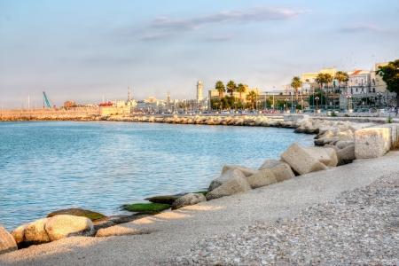 horisontal: Embankment of Bari Italy horisontal hdr Stock Photo