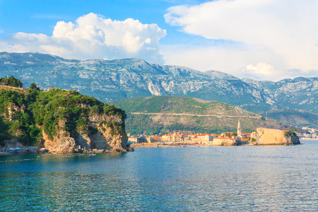 View of the coast of Budva horisontal Stock Photo