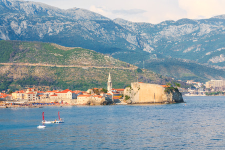 Old town in Budva Montenegro photo