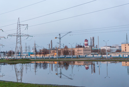 Chemical plant in Belarus Azot pollute