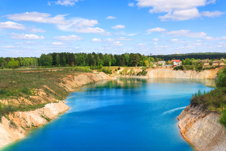 chalky: Chalky career filled with water in Belarus horisontal