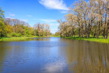 horisontal: A small river in Belarus horisontal