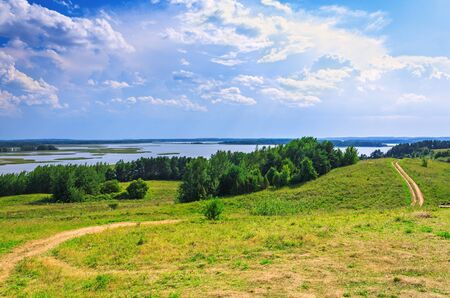 braslav: Rural landscape on Braslav lakes in Belarus