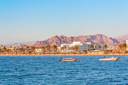 sharm el sheikh: View from the sea on the Sharm El Sheikh Sinai Mountain