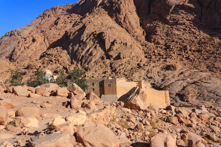 sinai: Monastery at the foot of Mount Moses in Sinai