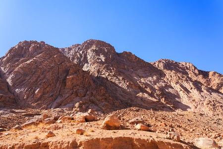 bible ten commandments: Mount Moses in the Sinai Peninsula in Egypt