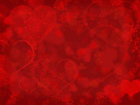 schlauch herz: Roter Hintergrund mit Valentines Herzen und copyspace