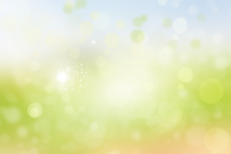 Abstract green background with sunlight and bokeh effect