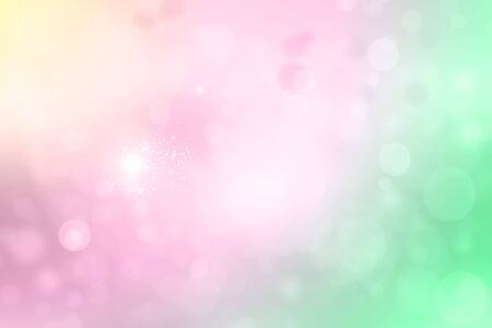 Abstract pink background with sunlight and bokeh effect Stock Photo