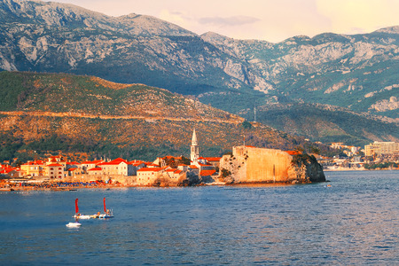 Landmarks in Montenegro. Old city in Budva