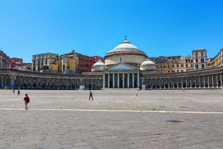francesco: Basilica of San Francesco di Paola in Naples, Italy Stock Photo
