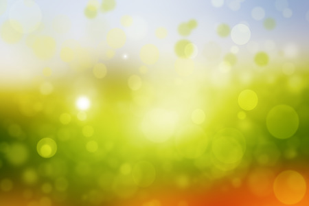 sunlight: Abstract green background with sunlight and bokeh effect