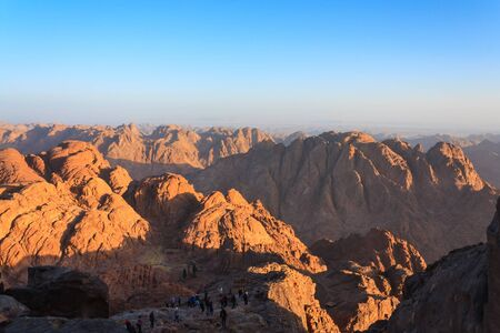 sinai desert: Views of the Sinai desert in Egypt at dawn