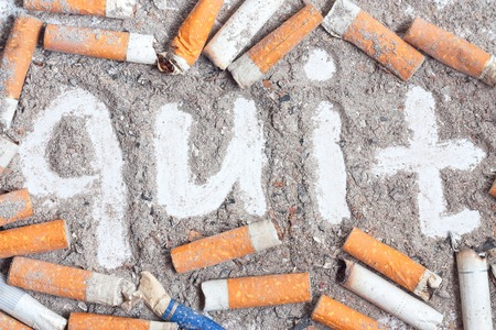 life threatening: Cigarette butts and ashes. Stop smoking now