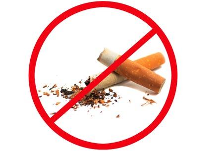 Aucun signe de fumer isolé sur fond blanc Banque d'images - 41723016