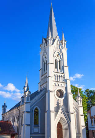 protestant: Ancient medieval Protestant church in Grodno Belarus