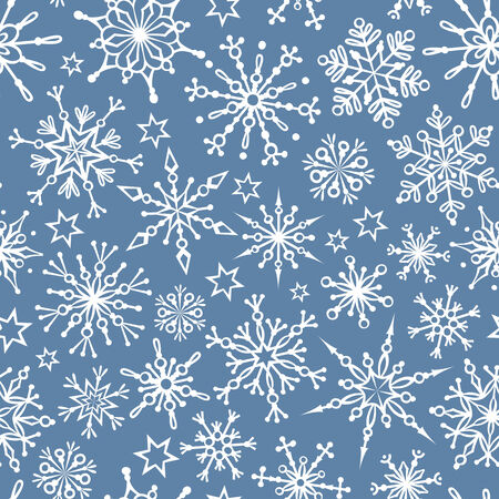 duotone: Seamless pattern of snowflakes. Duotone seamless winter texture. Winter background. Christmas template.