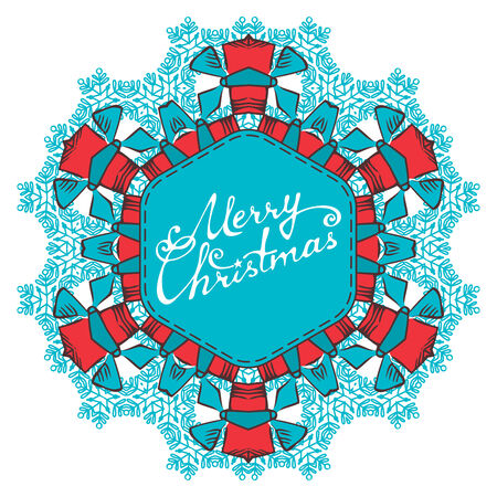 Christmas ornament. There is place for your text in the center. Vector