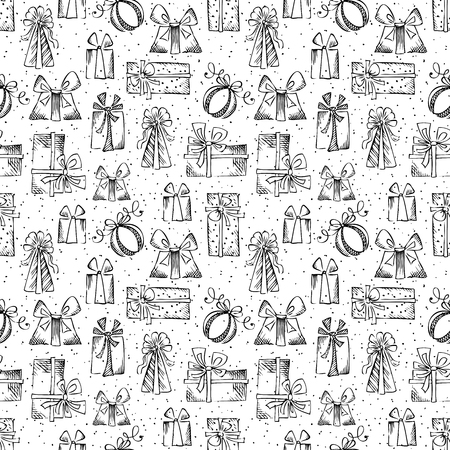 Black and white festive background. Vector