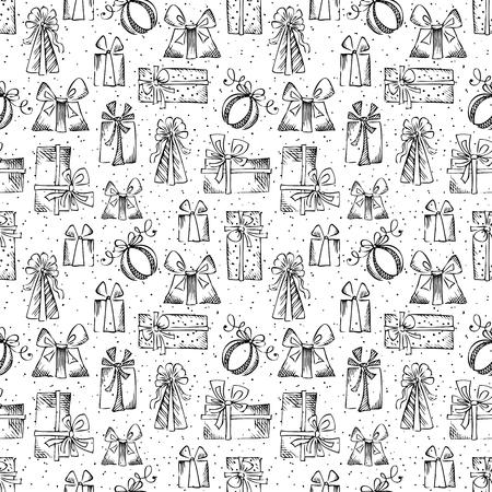 trapezium: Black and white festive background. Illustration