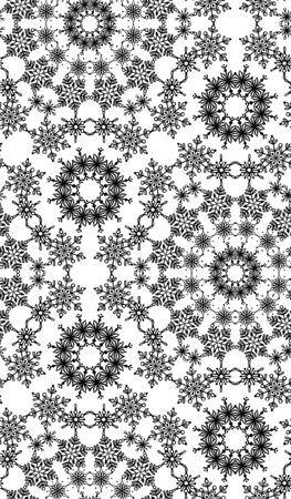 duotone: Duotone seamless texture of snowflakes. Winter background. Christmas templates.