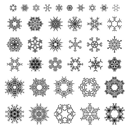 Vector elements for your Christmas design. Vector