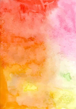 aquarelle: Modèle coloré. Il ya lieu vierge pour votre texte.
