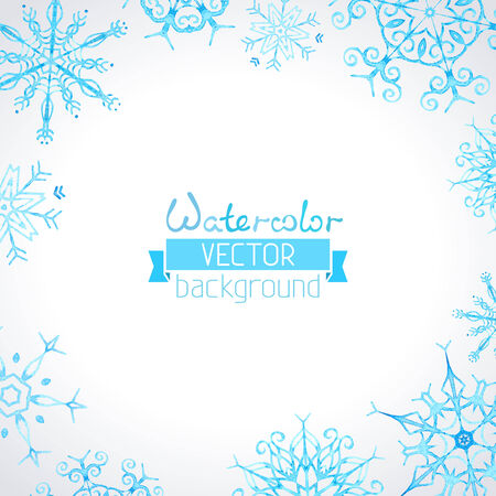 trait: Hand-drawn ornate snowflakes for your Christmas design. There is place for your text in the center. Illustration