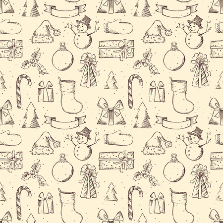 Hand-drawn pencil illustration for your festive design. Vector