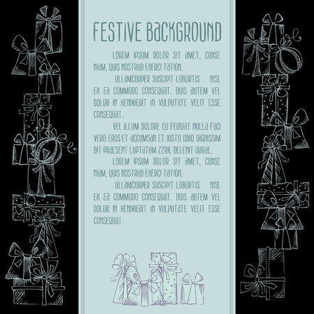Sketch festive background. There is place for your text. Vector