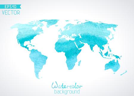 mapa mundi: Ilustraci�n del vector.