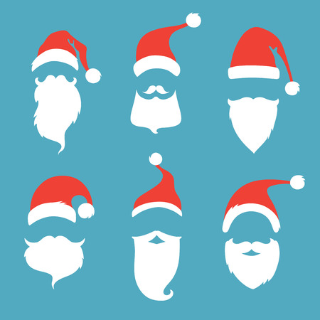 cartoon santa: Christmas elements for your festive design.