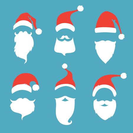 bigote: Elementos de la Navidad para su dise�o festivo.