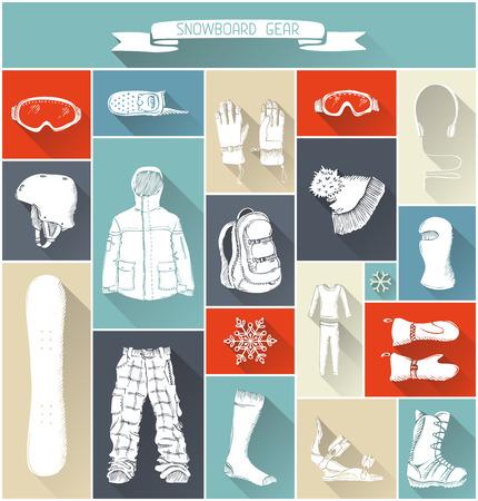 long socks: Long shadow design. Design elements for your extreme sport design.
