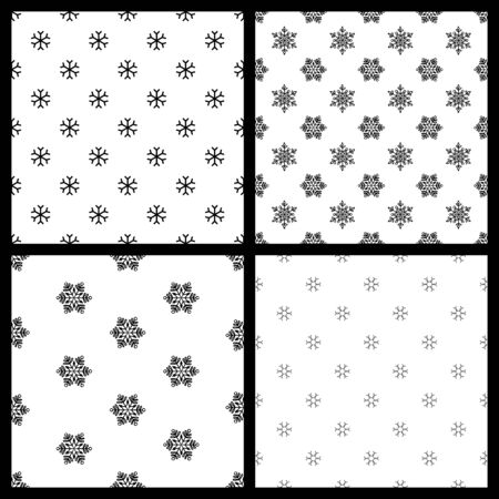 white winter: Black and white winter backgrounds. Christmas templates for your festive design.