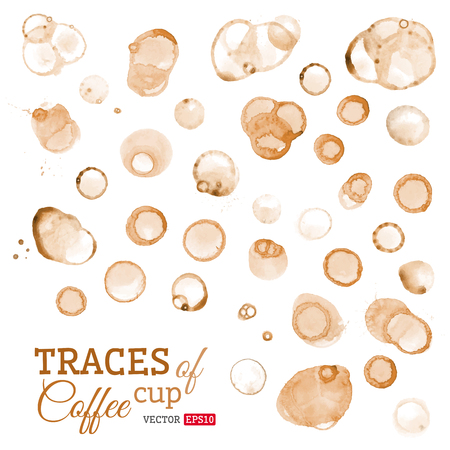 Vector round stains of coffee or tee. Vector