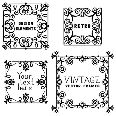 Retro design elements for your design. Vector