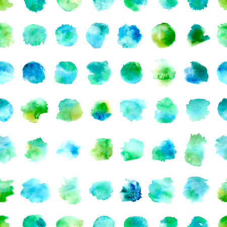 Various hand-drawn blue and green elements on white background. Vector