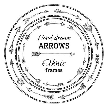 pluma: Ilustraci�n blanco y negro. No hay lugar para el texto en el centro. Vectores