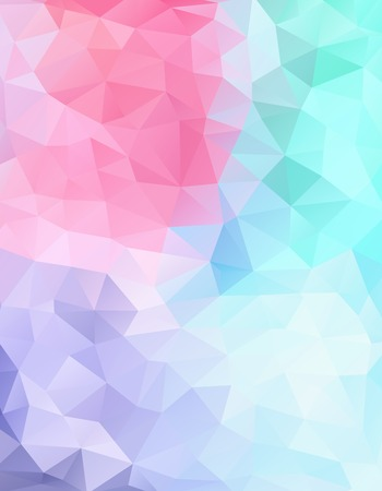 a pink cell: Pastel mosaic pattern. Retro triangle background.