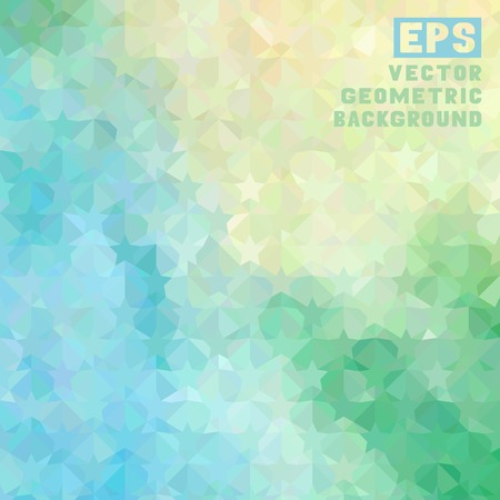 Pattern of geometric shapes with place for your text. Colorful mosaic square banner. Stock Illustratie