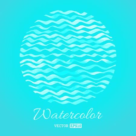 waves: Light watercolor waves. Illustration