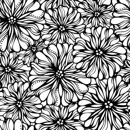 흰색 배경에 다양 한 꽃입니다. 원활한 패턴은 배경 화면, 웹 페이지 배경 또는 포장지에 사용할 수 있습니다.