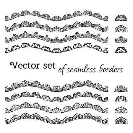 All used pattern brushes included. Black and white illustration.