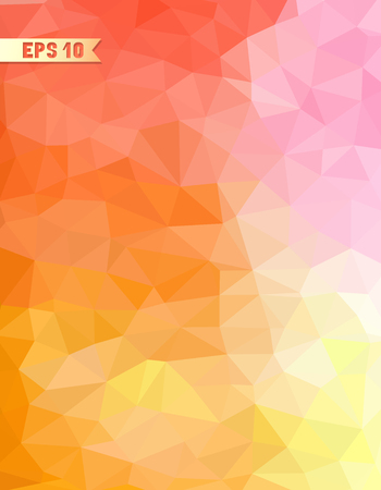 Vintage pattern of geometric shapes. Colorful mosaic background. Retro triangle background.  イラスト・ベクター素材