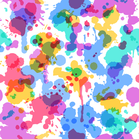 Watercolor composition for scrapbook design. Seamless pattern can be used for wallpapers, web page backgrounds or wrapping papers. Vector