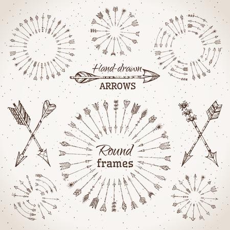 indio americano: Flechas �tnicas, marcos redondos y separadores de p�gina.