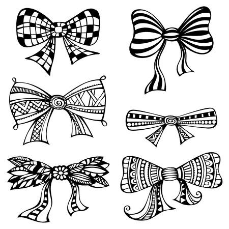 black bow: Black bows isolated on white background.